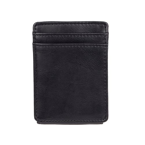 Men's Exact Fit RFID-Blocking Stretch Slim Front-Pocket Wallet With Magnetic Money Clip