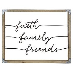 Belle Maison 'Faith Family Friends' Wall Decor