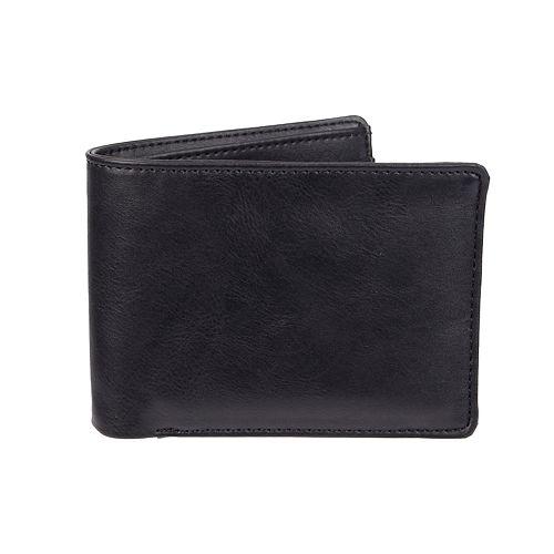 Men's Exact Fit RFID-Blocking Extra-Capacity Stretch Bifold Wallet
