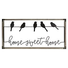Belle Maison 'Home Sweet Home' Birds Wall Decor
