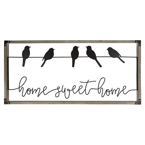 "Belle Maison ""Home Sweet Home"" Birds Wall Decor"