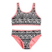 Girls 7-16 SO® Textured Waves Bikini Top & Bottoms Swimsuit Set
