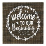 "Parisian Home ""Welcome To Our Beginning"" Wall Decor"