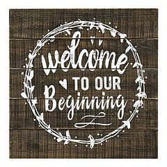 Parisian Home 'Welcome To Our Beginning' Wall Decor