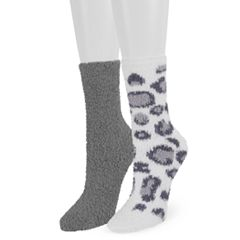 Women's SO® 2-Pack Cozy Crew Socks