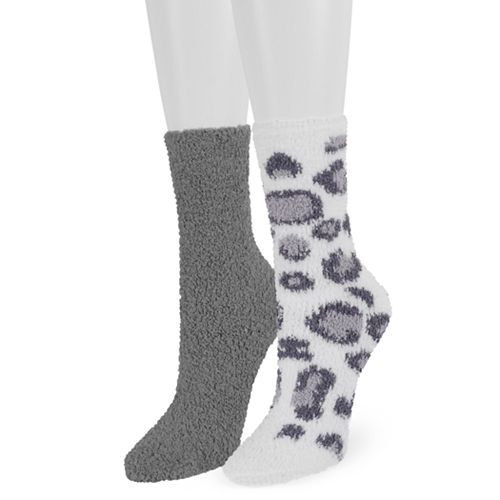 Women's SO® 2-Pack Cozy Crew Socks