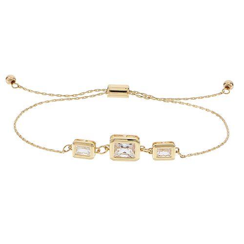LC Lauren Conrad Square Link Adjustable Bracelet