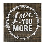 """Belle Maison """"Love You More"""" Wood Wall Decor"""