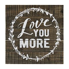 Belle Maison 'Love You More' Wood Wall Decor