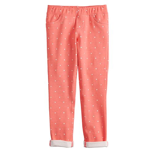 Girls 4-12 Jumping Beans® Print French Terry Ankle Pants