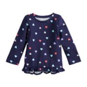 Baby Girl Jumping Beans® Long-Sleeve Ruffled Top