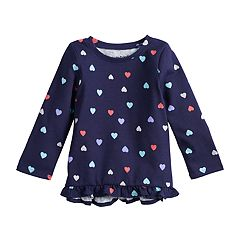 Baby Girl Jumping Beans® Long-Sleeve Ruffled Top
