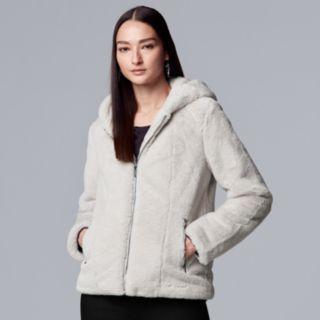Women's Simply Vera Vera Wang Faux-Fur Hooded Jacket
