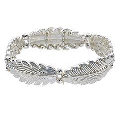 LC Lauren Conrad Leaf Link Stretch Bracelet