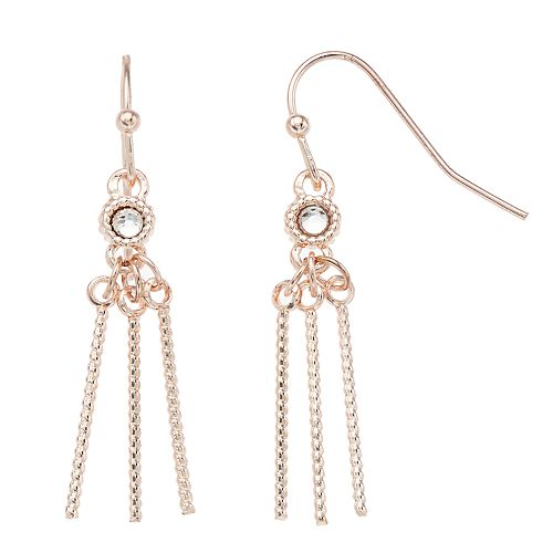 LC Lauren Conrad Nickel Free Triple Stick Drop Earrings
