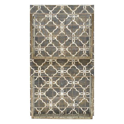 Belle Maison Geometric 2-Basket Magazine Rack Wall Decor