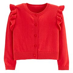 Toddler Girl Carter's Ruffled Cardigan