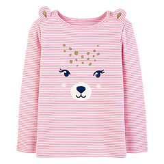 Toddler Girl Carter's Striped Bear Graphic Tee
