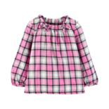 Toddler Girl Carter's Plaid Flannel Top
