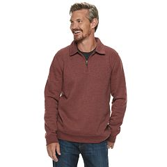 Men's Croft & Barrow® Classic-Fit Quarter-Zip Fleece Polo