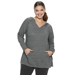 Juniors' Plus Size SO® Fleece Tunic Hoodie