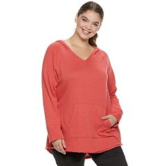 Juniors' Plus Size SO® Fleece Tunic Hoodie