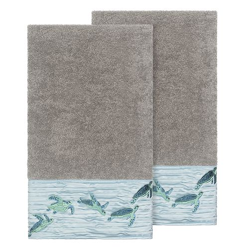 Linum Home Textiles Turkish Cotton Mia Embellished Bath Towel Set