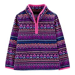 Toddler Girl OshKosh B'gosh® 1/2-Zip Microfleece Pullover