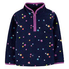 Toddler Girl OshKosh B'gosh® 1/2-Zip Microfleece Pullover