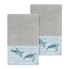 Linum Home Textiles Turkish Cotton Mia Embellished Hand Towel Set