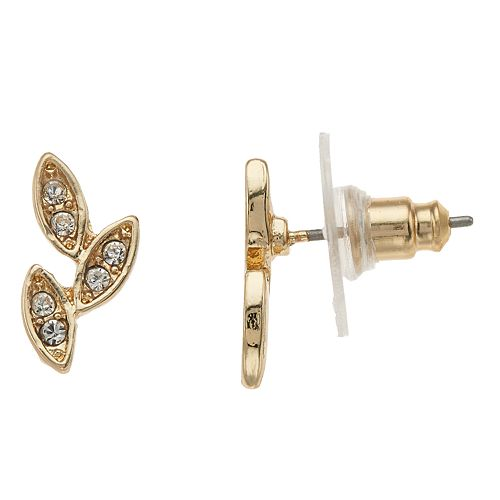LC Lauren Conrad Cluster Leaf Button Stud Earrings