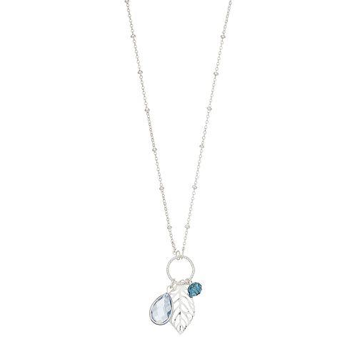 LC Lauren Conrad Leaf & Charm Pendant Necklace