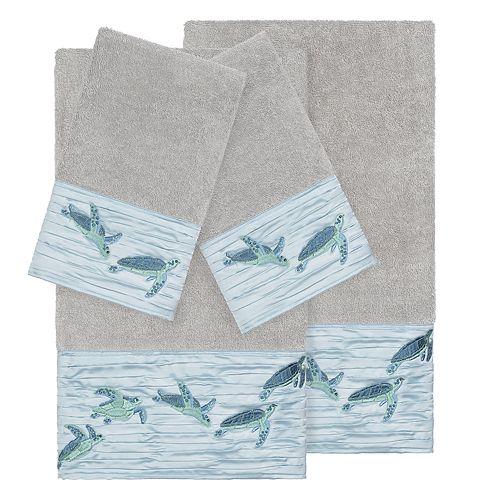 Linum Home Textiles Turkish Cotton Mia 4-piece Embellished Towel Set