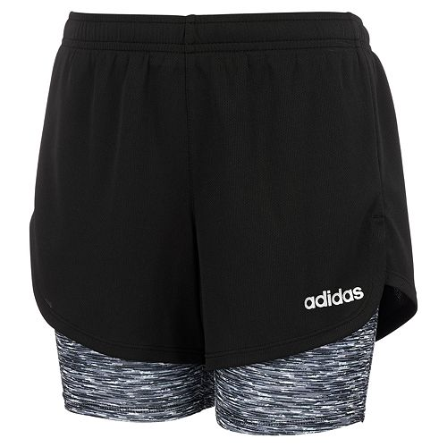 Girls 7-16 adidas 2-in1 Space Dyed Mesh Shorts