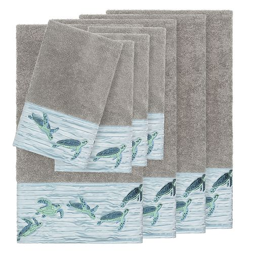 Linum Home Textiles Turkish Cotton Mia 8-piece Embellished Towel Set