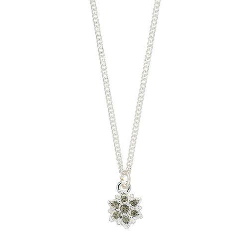 LC Lauren Conrad Black Flower Pendant Necklace