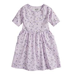 Girls 4-12 Jumping Beans® Mixed-Print Skater Dress