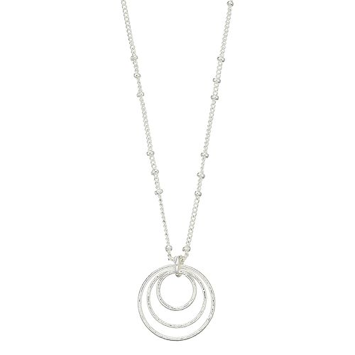 LC Lauren Conrad Concentric Circle Pendant Necklace