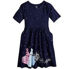 Disney's Cinderella Girls 4-12 Glittery Skater Dress by Jumping Beans®
