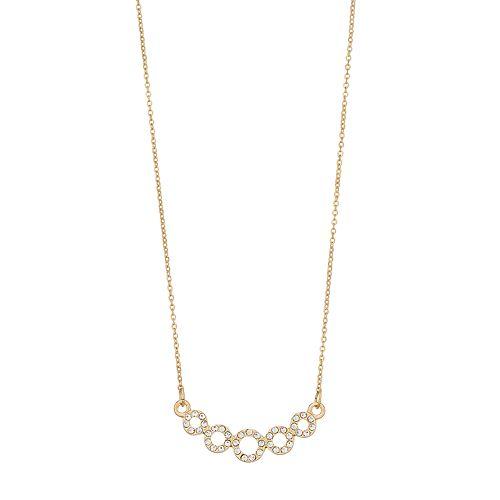 LC Lauren Conrad Pave Circle Necklace