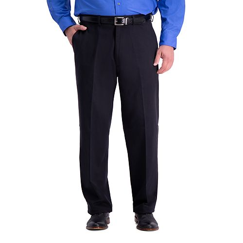 Big & Tall Haggar Work-To-Weekend PRO Relaxed-Fit No-Iron Stretch Flat-Front Expandable-Waist Pants