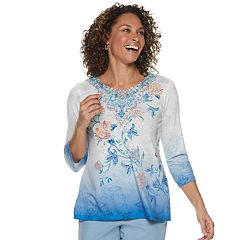 Women's Alfred Dunner Studio Floral Ombre Top