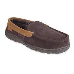 Men's Chaps Suede Moccasin Slippers
