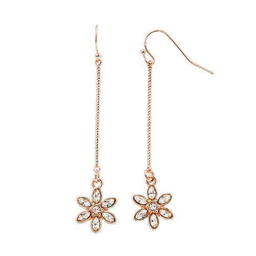 LC Lauren Conrad Flower Nickel Free Stick Drop Earrings