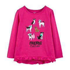 Toddler Girl Carter's Graphic Ruffle-Hem Swing Top