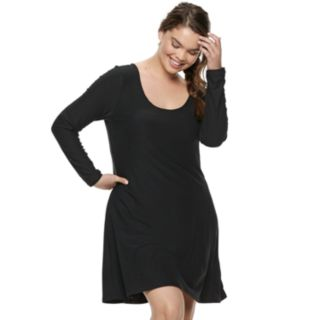 Juniors' Plus Size Mudd® Strappy Back Dress