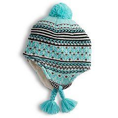 Girls 4-6x Igloos Fairisle Eaflap Cap Hat