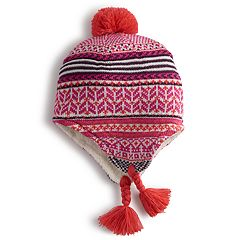Girls 4-6x Igloos Fairisle Eaflap Cap Hat