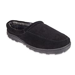 Men's Chaps Suede Memory Foam Clog Slippers