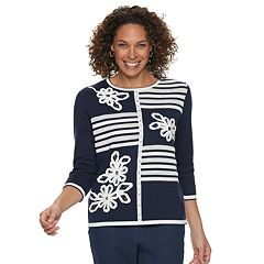 Women's Alfred Dunner Studio Floral Patchwork Sweater
